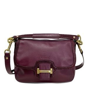 Coach Leather Small Burgundy Cross-Body Bag